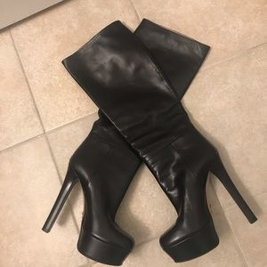 Gucci knee-high platform boots